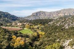 Santuari de Lluc. Views of the Santuari de Lluc in the Serra Tramuntana  on the Balearic island of Mallorca Royalty Free Stock Images
