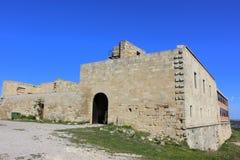 Santuari del Tallat, Lleida. The sanctuary of Tallat is an antic priorat i current santuari marià of the municipi of Vallbona de les Monges Urgell. It is Stock Photography