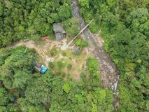 Santuari Ikan Sungai Chiling Kuala Kubu Bharu Malezja Zdjęcie Stock