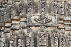 Santuario antico del tempio della scultura di angelo Fotografie Stock Libere da Diritti