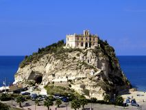 Santuario benedettino. In city Tropea, Italy Royalty Free Stock Images