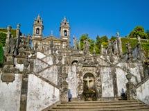 Santuario Bom Иисус делает Monte, Брагу, Португалию Стоковые Фотографии RF