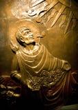 Santuario Bronze Messico del Juan Diego Guadalupe di rilievo Fotografia Stock Libera da Diritti