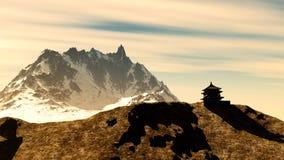 Santuario buddista in montagne Fotografia Stock Libera da Diritti