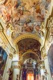 Santuario Casadi Santa Caterina, inre av kyrkan av helgonet Catherine Siena italy royaltyfri foto