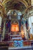 Santuario Casadi Santa Caterina, inre av kyrkan av helgonet Catherine Siena italy royaltyfri fotografi