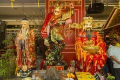 Santuario cinese di Singapore nella città giù Immagini Stock