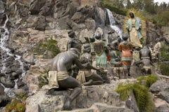 Santuario comparente della Mary Juan Diego Guadalupe della statua Immagine Stock Libera da Diritti