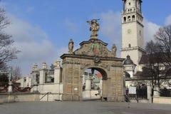 Santuario Czestochowa.Poland de Jasna Gora de la puerta Imágenes de archivo libres de regalías