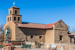 Santuario De瓜达卢佩河,圣菲,新墨西哥 免版税库存图片