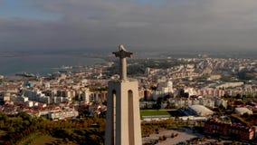 Santuario de Cristo el rey en portugués el monumento portuguese Santuario de Cristo Rei Catholic metrajes