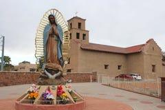 Santuario De Guadalupe - gammal beskickningkyrka - Taos, NM arkivfoton