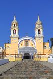 Santuario de guadalupe I. Sanctuary of virgin mary guadalupe, city of Cholula, mexican state of Puebla Stock Images