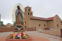 Santuario De Guadalupe - iglesia vieja de la misión - Taos, nanómetro imágenes de archivo libres de regalías