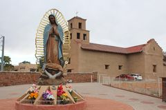 Santuario De Guadalupe - igreja velha da missão - Taos, nanômetro fotos de stock