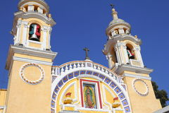Santuario de guadalupe III. Sanctuary of virgin mary guadalupe, city of Cholula, mexican state of Puebla Stock Image