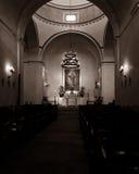 Santuario de la misión Concepción con luz del sol natural Fotos de archivo libres de regalías