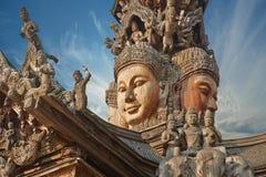 Santuario de la verdad, Pattaya, Tailandia Fotos de archivo libres de regalías