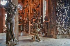 Santuario de la verdad, Pattaya, Tailandia Imágenes de archivo libres de regalías