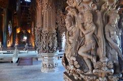 Santuario de la verdad situado en Pattaya Imagen de archivo