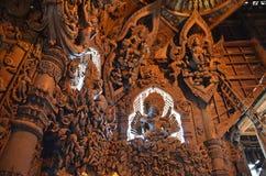 Santuario de la verdad situado en Pattaya Foto de archivo