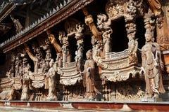 Santuario de la verdad situado en Pattaya Tailandia Fotografía de archivo