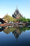 Santuario de la verdad situado en Pattaya Tailandia Imagen de archivo libre de regalías