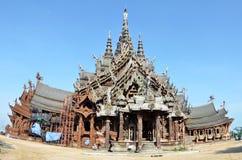 Santuario de la verdad situado en Pattaya Tailandia Imágenes de archivo libres de regalías