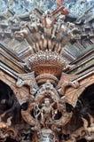 Santuario de la verdad situado en Pattaya Tailandia Fotos de archivo libres de regalías