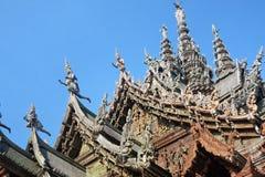 Santuario de la verdad situado en Pattaya Tailandia Imagenes de archivo