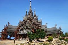 Santuario de la verdad situado en Pattaya Tailandia Fotografía de archivo libre de regalías