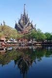Santuario de la verdad situado en Pattaya Tailandia Imagen de archivo