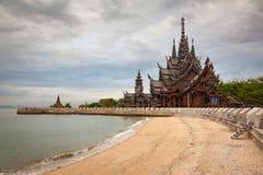 Santuario de la verdad Tailandia Fotos de archivo