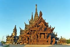 Santuario de la verdad y del parque en Pattaya Imagen de archivo
