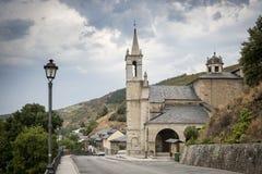 Santuario de la Virgen de las Angustias church in Molinaseca town, Province of Leon, Spain Royalty Free Stock Image