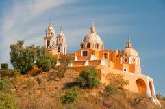 Santuario de los remedios, Cholula (Mexico) Royalty Free Stock Photos