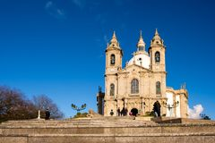 Santuario de Nossa Senhora tun Sameiro Lizenzfreies Stockfoto