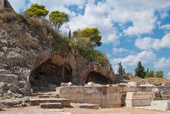 Santuario de Plutón Hades, dios del mundo terrenal, que secuestró Persephone imagen de archivo libre de regalías