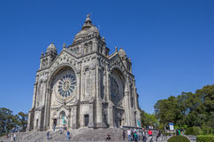 Santuario De Santa Luzia à Viana do Castelo Photographie stock libre de droits