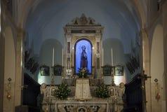 Santuario de St Matthew en San Marco en Lamis Imagenes de archivo