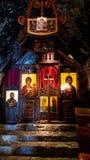 Santuario del monastero della caverna a Podgorica, Montenegro immagini stock