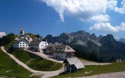 Santuario del Monte Lussari Fotografering för Bildbyråer