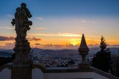Santuario del punto de vista de Bom Jesus de Braga imágenes de archivo libres de regalías