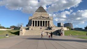 Santuario del ricordo nell'orbita del carrello di Melbourne archivi video