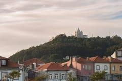 Santuario del san Luzia su una collina, Viana do Castelo fotografia stock libera da diritti