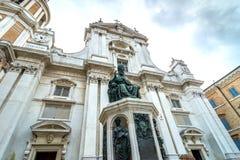 Santuario della圣诞老人住处,朝圣教会在洛雷托省,意大利 免版税库存图片