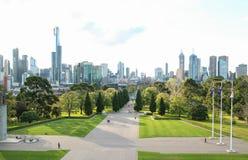 Santuario della città dell'Australia Melbourne del ricordo Fotografia Stock