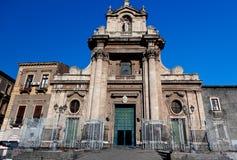 Santuario della Madonna del Carmine church, Catania, Sicily, Italy. The baroque Santuario della Madonna del Carmine Church of Catania, Sicily, Italy with Royalty Free Stock Images