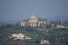 Santuario Della Madonna Di Lourdes View From Torre Dei Lamberti a Verona Viaggio, feste, architettura 30 marzo 2015 verona immagini stock