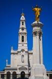 Santuario della nostra signora della statua del Jesus e di Fatima Immagini Stock Libere da Diritti